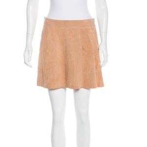 Joie Tan Suede Skirt